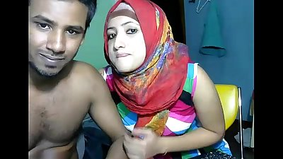 Sexy desi couple webcam fucks