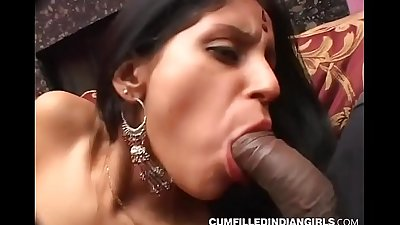 Big boob indian slut xxx fucking with group of white studs